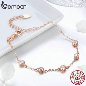 Image 5 - BAMOER 925 Sterling Silver Key Lock of Love Gold Color Necklaces Bracelets Jewelry Sets Wedding Authentic Silver Jewelry Set