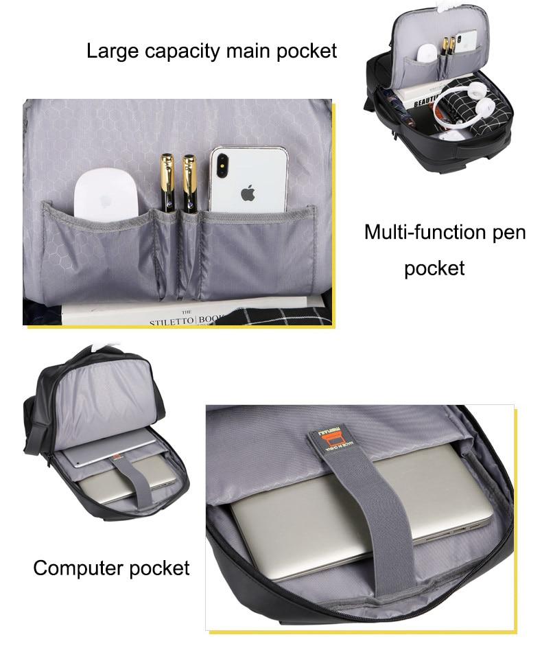 Sac à dos pour ordinateur portable multifonctionnel 3