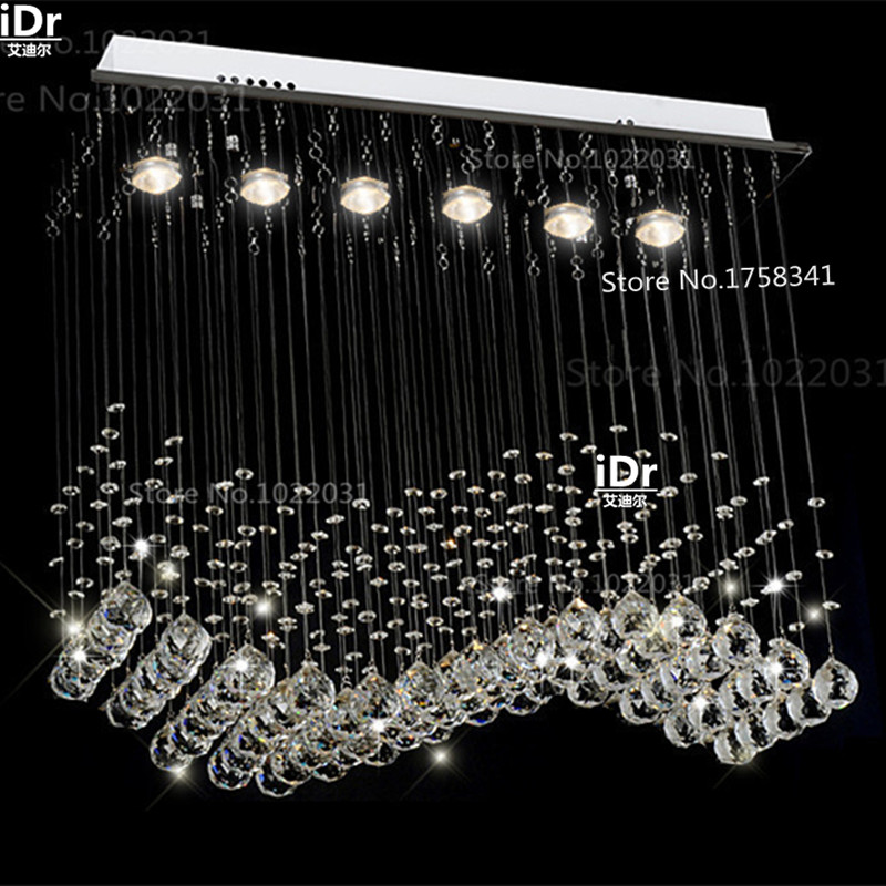 Modern k9 crystal Chandeliers lamps curtains L700xW200xH 800mm luxury Lights 100 quality guarantee