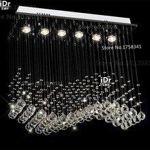 Nowoczesne lampy k9 kryształowe żyrandole zasłony L700xW200xH 800mm luksusowe światła 100% gwarancja jakości