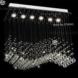 Nowoczesne lampy k9 kryształowe żyrandole zasłony L700xW200xH 800mm luksusowe światła 100% gwarancja jakości w Żyrandole od Lampy i oświetlenie na