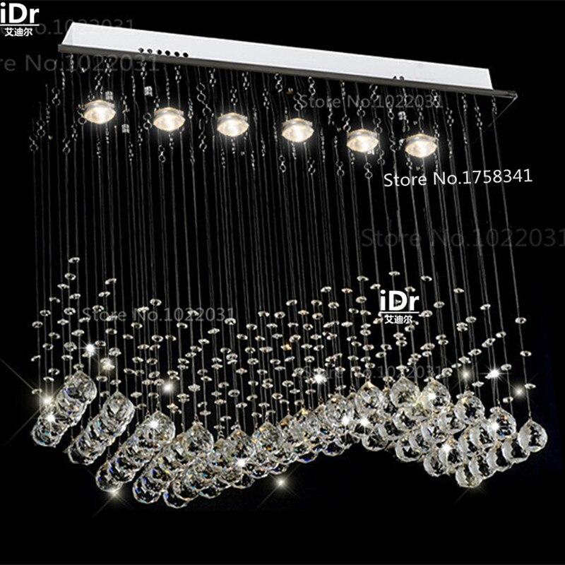 現代k9クリスタルシャンデリアランプカーテンL700xW200xH 800ミリメートル高級ライト100%品質保証  グループ上の ライト & 照明 からの シャンデリア の中 1