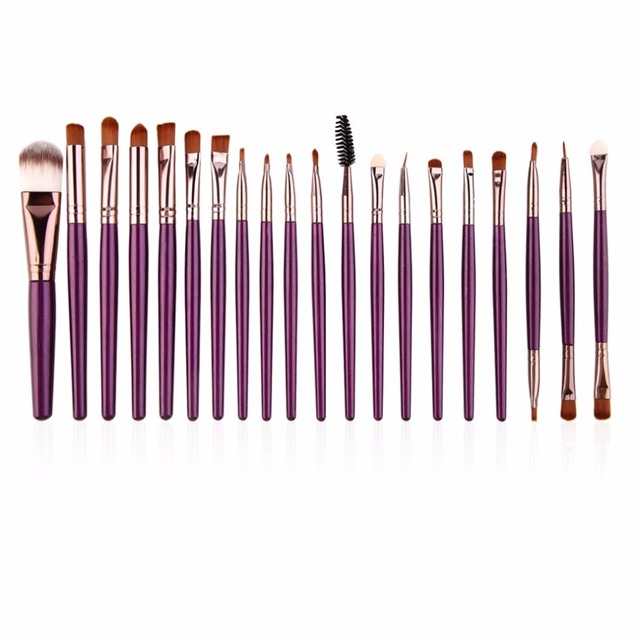 20pcs/set Makeup Brushes Pro Blending Eyeshadow Powder Foundation Eyes Eyebrow Lip Eyeliner Make up Brush Cosmetic Tool 4