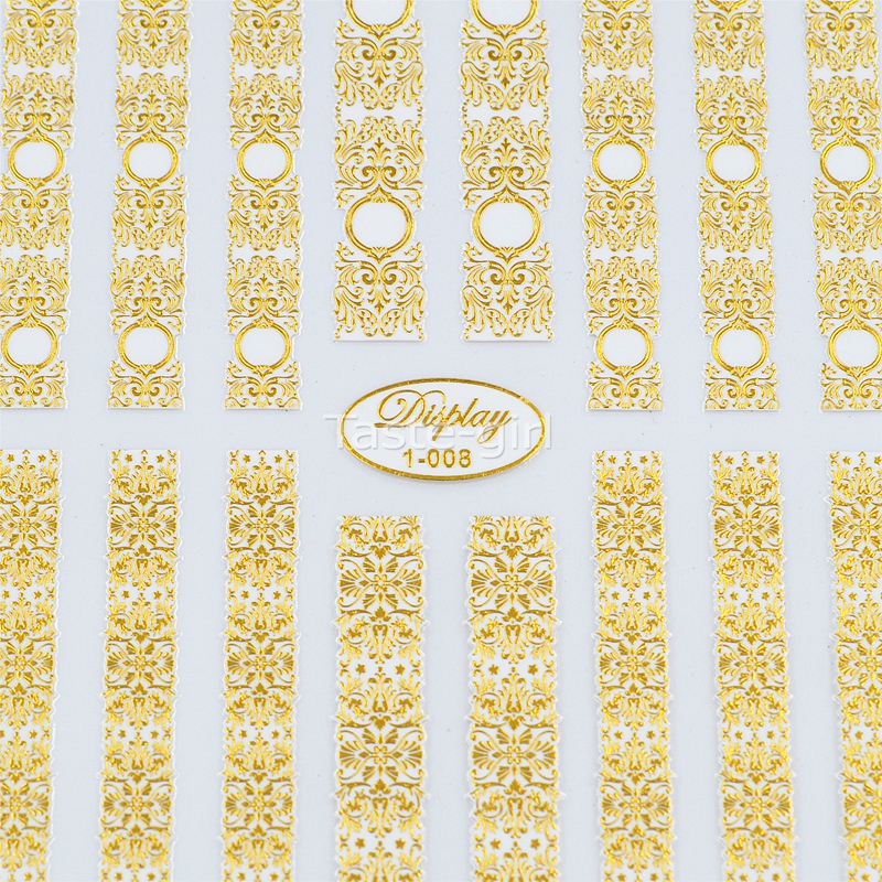 Hoge kwaliteit 3d goud (wit) Nail Art Stickers Decals Hot Stamping - Nagel kunst