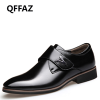 QFFAZ Office Men S Dress Suit Shoes Leather Wedding Casual Shoes Comfortable Man Leather Shoes Zapatos