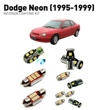 Led interior lights For Dodge neon 1995-1999  15pc Lights Cars lighting kit automotive bulbs Canbus