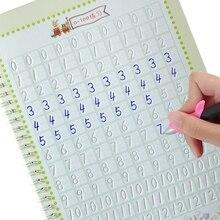 New Arabic chữ số Trích Từ Sách thiết kế Rãnh Trẻ Em kịch bản Thường Xuyên bài tập Văn Phòng Phẩm cho học sinh tiểu học Người Mới Bắt Đầu