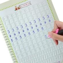 Novos algarismos árabes copybook groove design crianças regular script exercícios papelaria para alunos da escola primária iniciantes