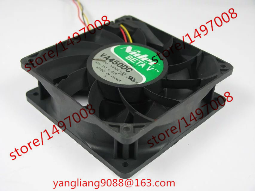 Free Shipping For Nidec VA450DC V35251-58 DC 48V 0.62A 3-wire 3-Pin connector 110mm 120X120X38mm Server Square Cooling Fan free shipping for nidec r40w12bs2ca 57a05 43v6928 43v6929 dc 12v 0 84a 40x40x56mm 8 wire 6 pin connector server square fan