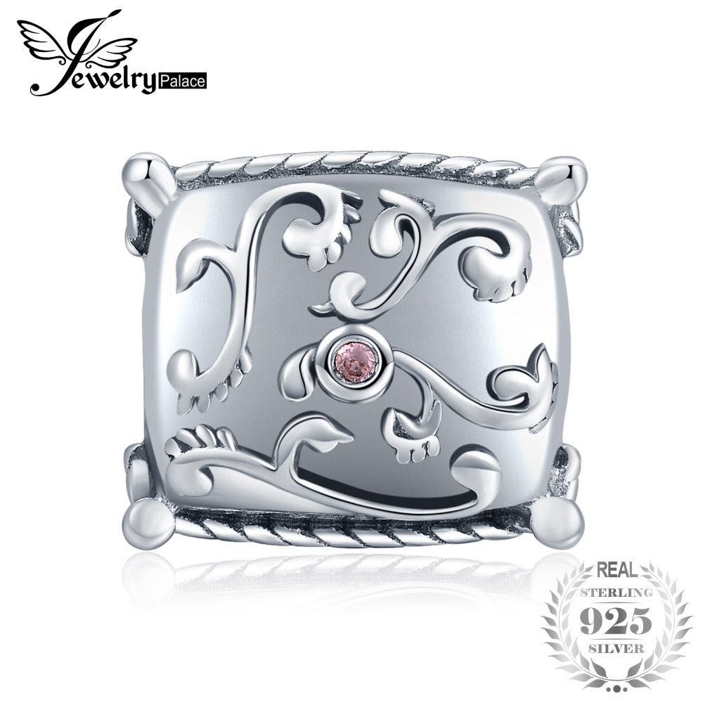JewelryPalace Pink Cubic Zirconia Filigree Home Pillow Charm Bead Fit Bracelet 925 Sterling Silver For Women New Hot SaleJewelryPalace Pink Cubic Zirconia Filigree Home Pillow Charm Bead Fit Bracelet 925 Sterling Silver For Women New Hot Sale