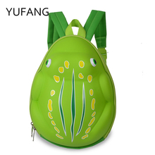 2017 Kids Bag Children Backpacks Kindergarten Baby Book Bag Schoolbags YUFANG Frog Style Cartoon School Bags For Boys And Girls