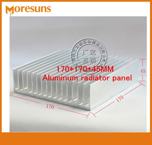 Fast Free Ship Super Cooling Pure aluminum heat sink High power radiator 170*170*45MM Aluminum radiator panel free ship 5pcs lot with three holes high power round led lamp bead aluminum radiator 41 22 25mm sunflower aluminum heat sink