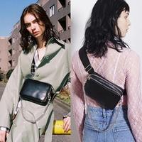 Women Waist Bag Pu leather Chest Bag Fashion Punk Shoulder Bag Female Cool Backpacks Unisex Casual Travel Bags A244
