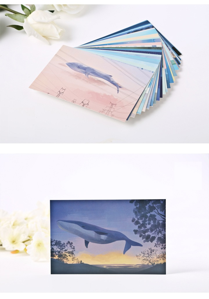 30 sheets/LOT Whale Island Lovely Cartoon Animals Postcard /Greeting Card/Wish Card/Christmas and New Year gifts
