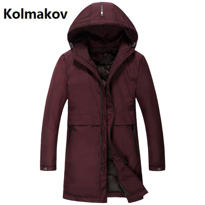 2017 Mens winter jackets casual 90% white duck down down coats Men cotton-padded jacket trench coat man hooded down jacket