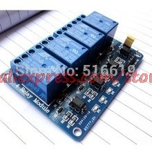 цена на Blue 4-Channel 5V Relay Module Low Strigger For  PIC ARM DSP AVR MSP430