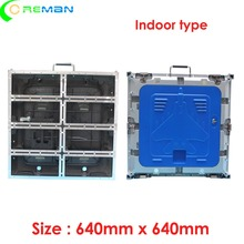 Goedkoopste prijs lege led display kast 640mm x 640mm, spuitgieten aluminium led kast voor p5 p10 led module 320x160mm