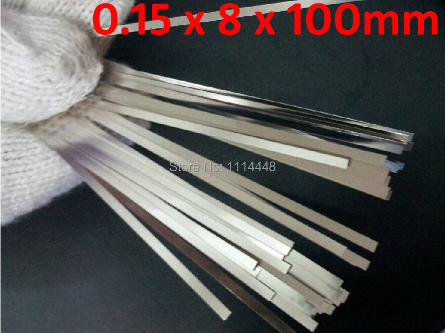 0.15 x 8 x 100mm 100pcs Pure Nickel Plate Strap Strip Sheets 99.96% for battery spot welding machine Welder Equipment welder machine plasma cutter welder mask for welder machine