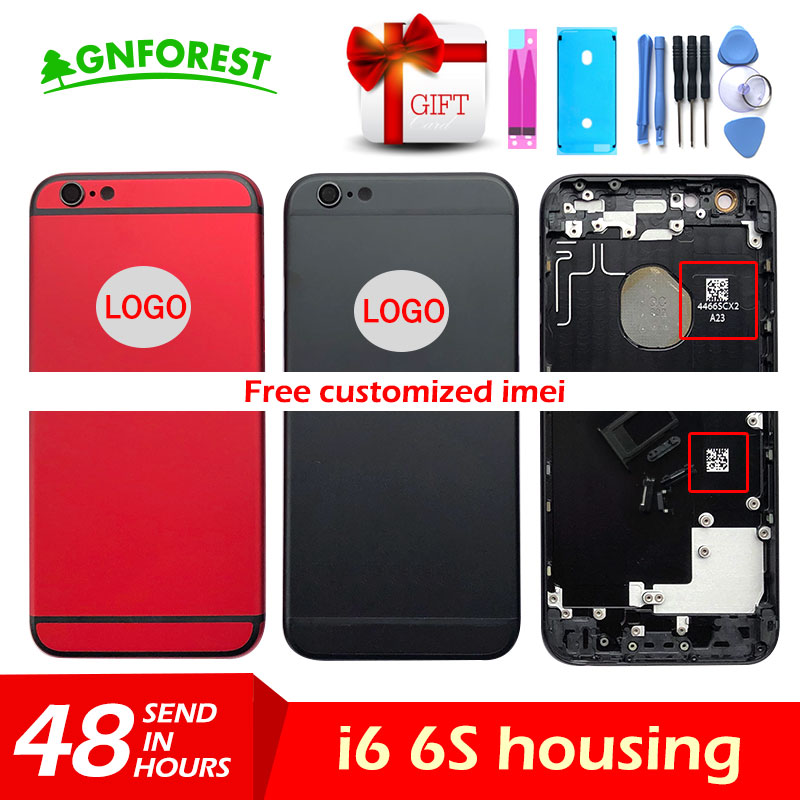 Battery-Cover Chassis Sim-Tray Back Housing Side-Button LOGO Sticker--Tool IMEI Custom