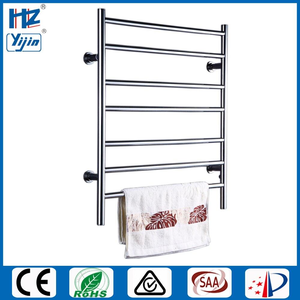 Envío Gratis eléctrico de acero inoxidable montado en la pared calentador de toallas accesorios de baño, secador de toalla bastidores calentador de toallas HZ-926