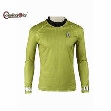 Cosplaydiy Star Trek Into Darkness James Tiberius Kirk Cosplay Costume Adult Halloween Cosplay Top Shirt Custom Made