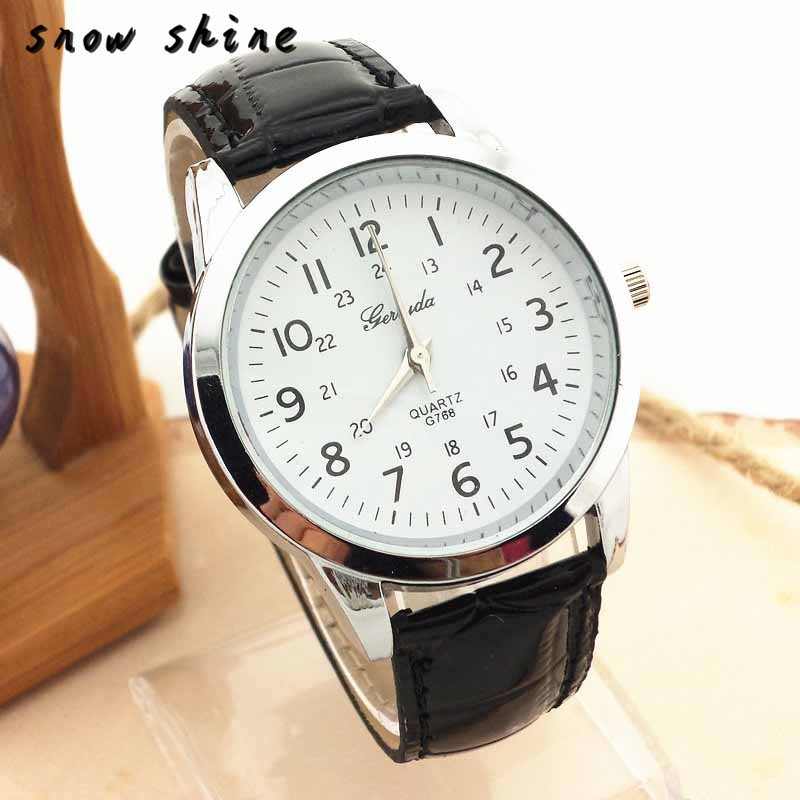snowshine 10 Elegant Analog font b Luxury b font Sports Leather Strap Quartz Mens Wrist Watch