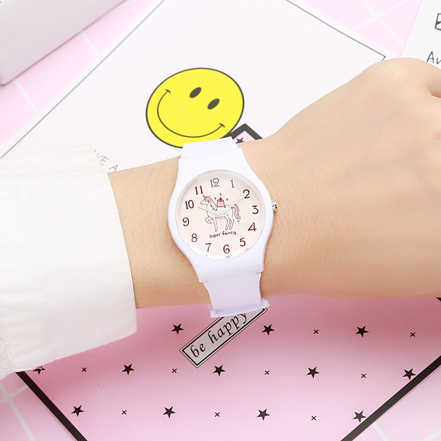Brand New Fashion Cute Harajuku Unicorn Watermelon Girl's Boy's Children Watch Waterproof Sport Jelly Watch Lady Quartz Watch