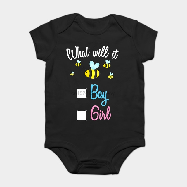 21fa52073c54e US $11.99  Baby Onesie Baby Bodysuits kid t shirt Funny novelty Gender  Reveal What Will It Bee Boy or Girl Family-in Bodysuits from Mother & Kids  on ...
