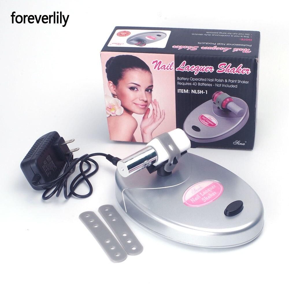 Foreverlily Prego Laca Gel Unha Polonês Verniz Garrafa Shaker Ajustável Tremendo Máquina Agitar Uniformemente Ferramentas para Nail Art Tattoo