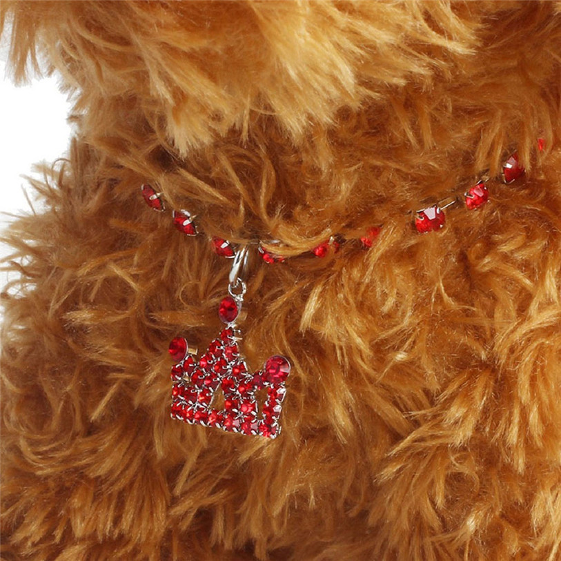 Bling Full Rhinestone Alloy Dog Necklace Collar Pendant for Pet Puppy Small Dogs Cats Party Decor Dress Up Pet Supplies 40JA22 (14)