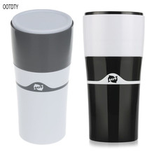 Manual Portable Drip Coffee Maker Mug Compatible For K-Cup Refillable Travel Camping Outdoor Hot And Cold