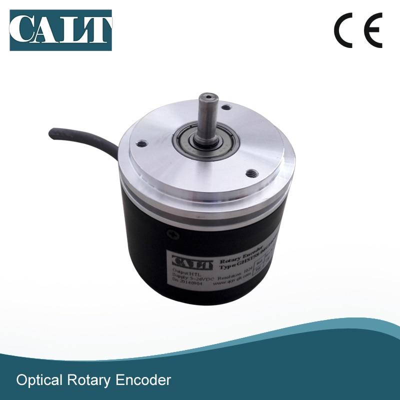 все цены на CALT 3600ppr 5000 pulse 6mm shaft servo flange optical encoder GHST58 motor rotary encoder онлайн