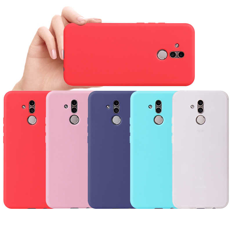 Matte Candy Solid Color Case for Huawei Y9 2019 Y7 Prime 2018 Nova 4 2 Lite Enjoy 8 9 Plus TPU Cover for Honor 7C Pro 5.99 inch
