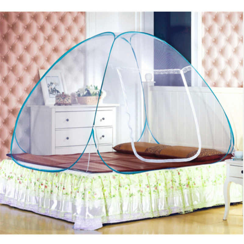 New Arrival Pop Up Camping Tent Bed Canopy Mosquito Net Full Queen King Size Netting Bedding Mongolian Yurt Mosquito Net
