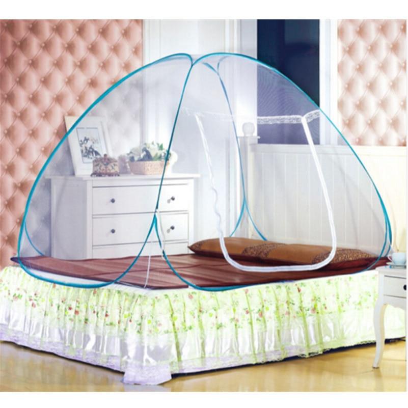 새로운 도착 팝업 캠핑 텐트 침대 캐노피 모기장 전체 여왕 킹 사이즈 그물 침구 몽골어 유르트 모기장