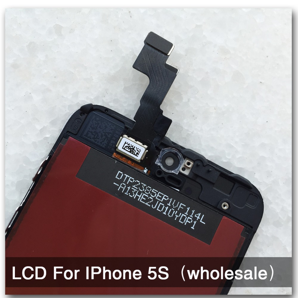imágenes para 10 unids/lote 100% pixel no muertos de calidad aaa para el iphone 5s lcd pantalla y pantalla táctil digitalizador asamblea reemplazo envío gratis negro
