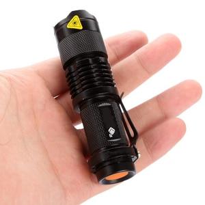 Image 5 - Chống Nước LED Q5 2000lm 3 Chế Độ Phóng To Bán Tự Vệ Không Tazer Sốc Mini Sáng Đèn Pin Đèn Điện