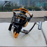 FDDL fishing 12+1BB 5.2:1/5.1:1 1000-6000 series full metal spool hot sale for bait carp feeder lure spinning fishing reel