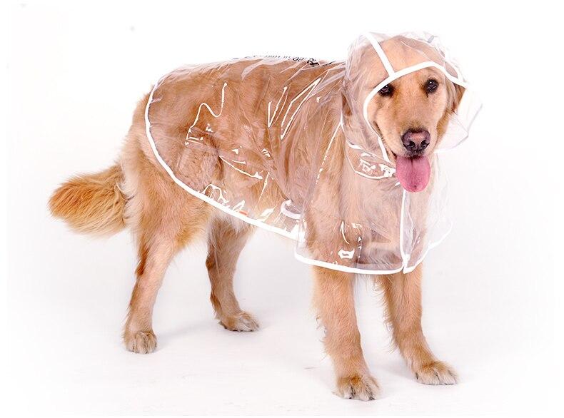 Waterproof Big Dog Rain Coat Cover EVA Raincoat Cloth Transparent Dog Rain Poncho for Large Dogs 3XL-7XL (10)