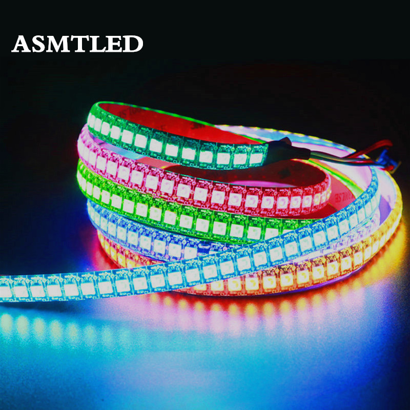 1m/5m WS2812B 30/60/144 Leds/m Smartled Pixel RGB Individually Addressable Led Strip Light Black/White PCB WS2812 IC WS2812B 5V