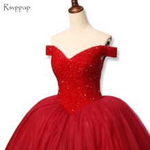 RSVPPAP Stunning Long Red Prom Dress 2019 Puffy Cap Sleeve