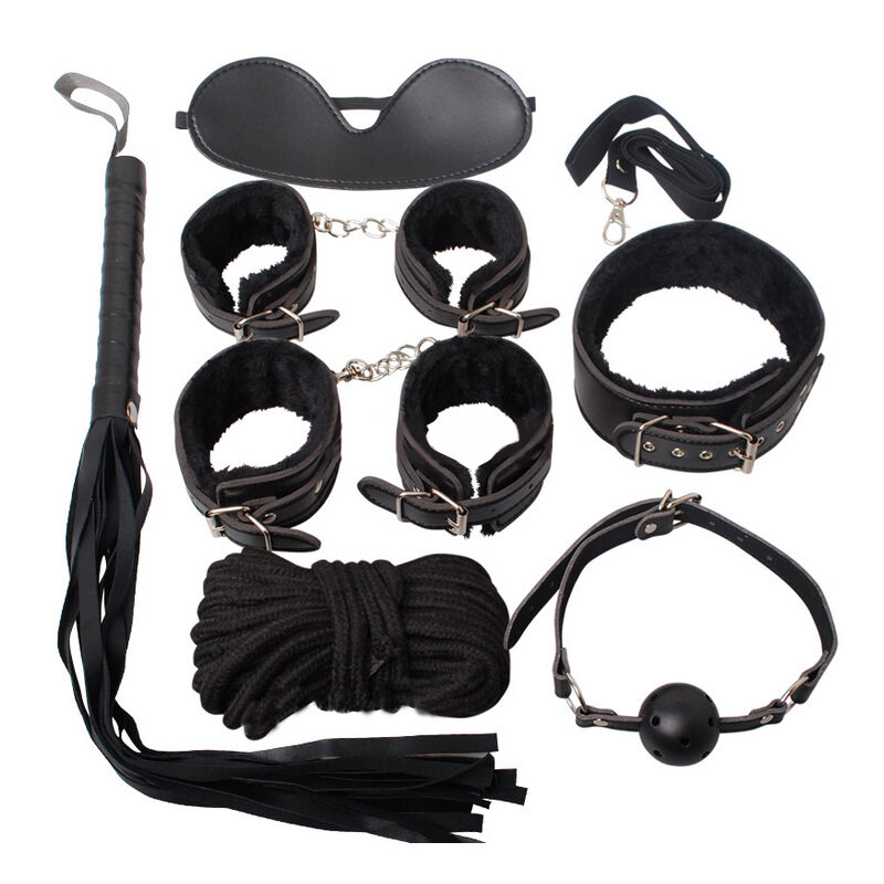 Kuper&Cherry BDSM Bondage Kit Set Leather Fetish Adult Games Sex Toys for Couples 7 in 1 Adult Sex Product Erotic Toys Womanizr fetish sex furniture harness making love sex position pal bdsm bondage product erotic toy swing adult games sex toys for couples