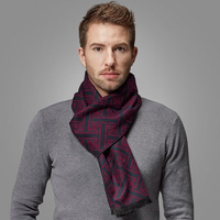 New Europe Fashion men Shawl Scarves high quality Silk velour scarf Men Winter Warm Geometric Scarf Business men accessories