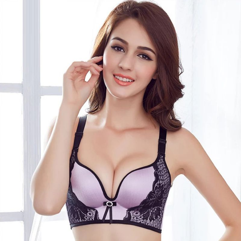 Open-Minded Fashion Sexy Lace Sleep Bra Chest Padded Bra Women Push Up Lingerie Seamless Bra Wire Free Bralette 100% High Quality Materials Underwear & Sleepwears Bras