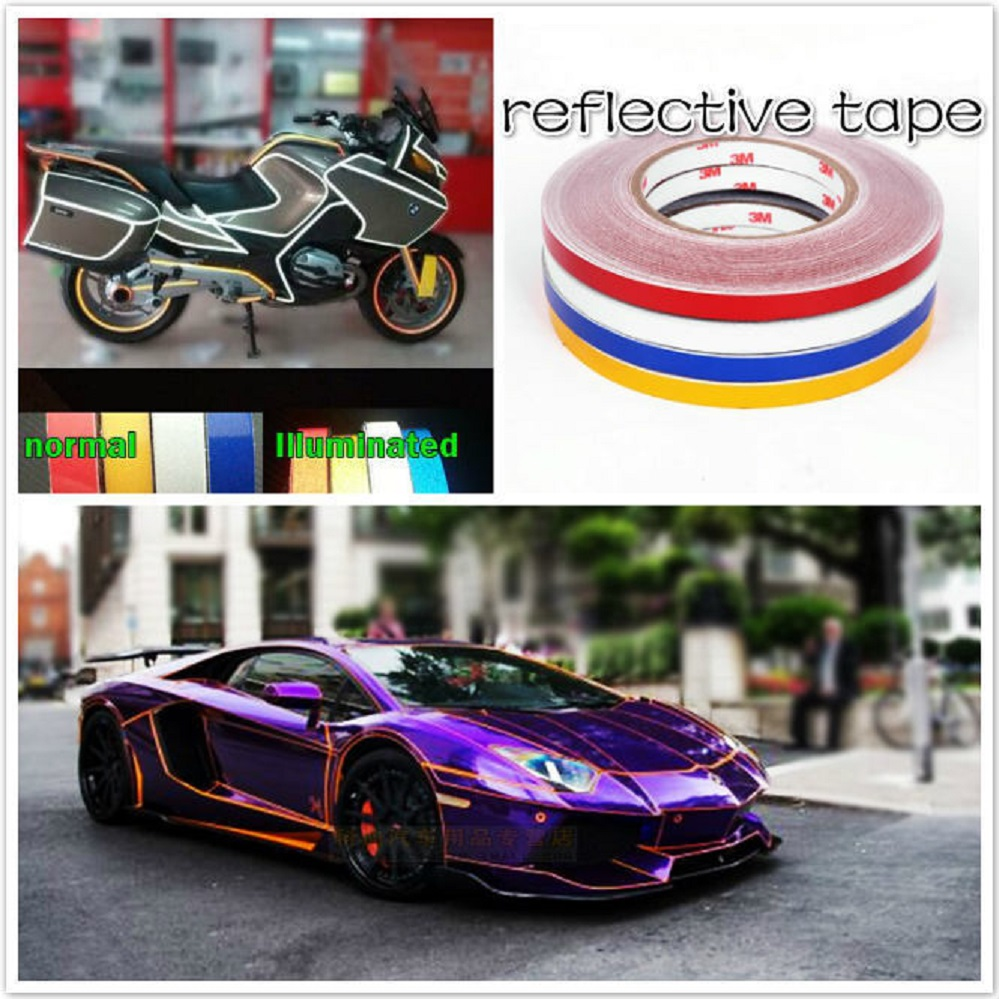 1cm X 10M 3M car Motorcycle reflective tape sticker original 3M brand with free shipping
