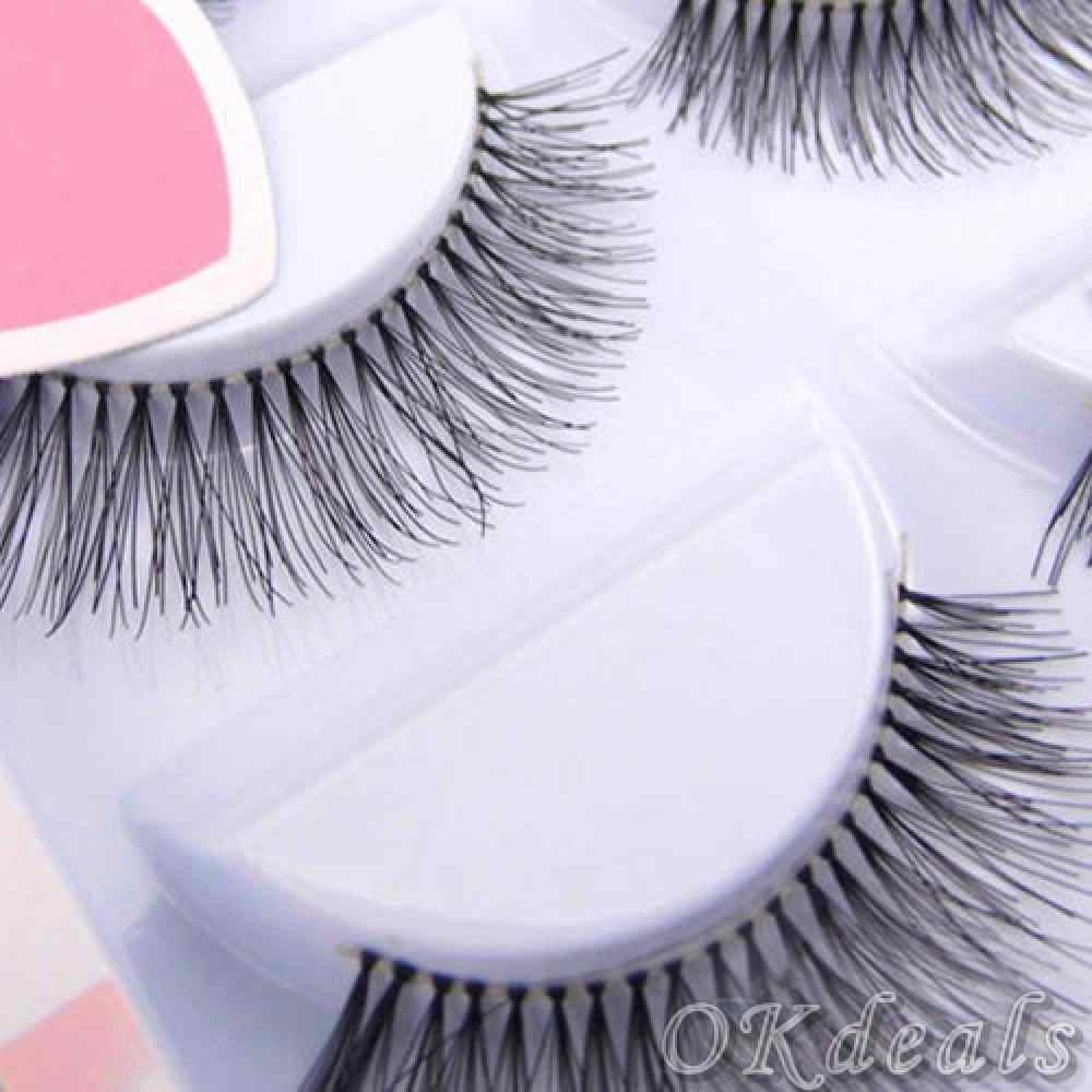 5 Pairs HOT Women Black Natural Sparse Cross Fake Eye Lashes Extension Makeup Long Faux False Eyelashes Makeup Accessories