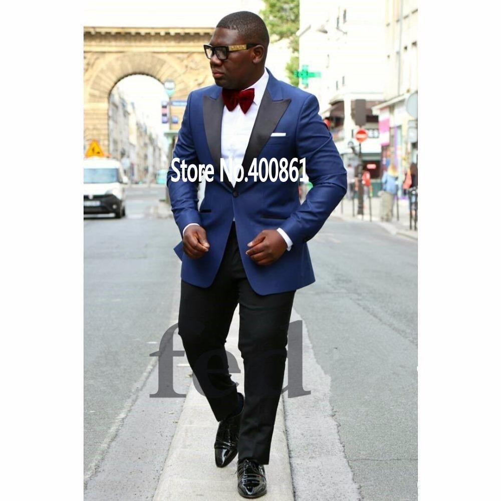 High Quality Dark Blue Mens Suits Groom Tuxedos Groomsmen Wedding Party Dinner Best Man Suits (jacket+pants+tie) K:2691