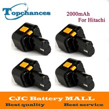4X High Quality 9.6V 2000mAh Ni-CD  Rechargeable Power Tool Battery For Hitachi Drill EB9G, EB9M, EB9S, EB924, EB9B, FEB9S