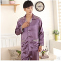 Men's Silk Pyjama Pajamas for Nightshirts Satin Sleepwear Men Lounge Pajama Sets Pijama Hombre Plus Size XXXL