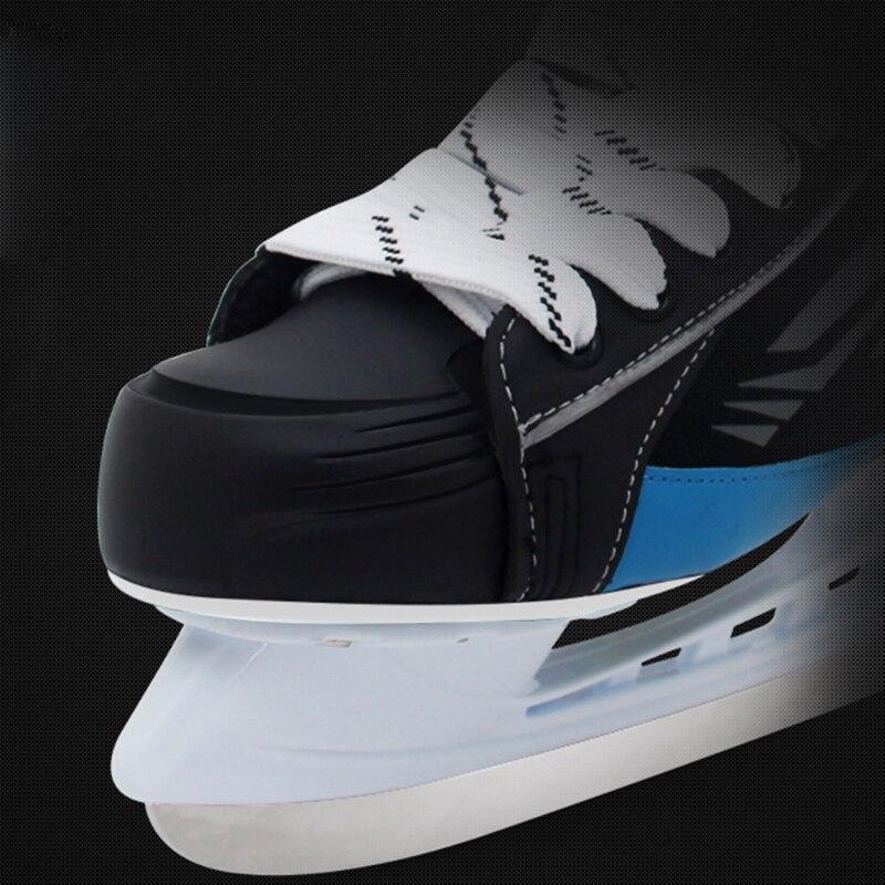 Взрослый ребенок хоккейный нож для катания на коньках спортивная обувь для трюков кожаные ледяные лезвия настоящие ледяные коньки Patines Лыжный спорт черный ID18 - 5